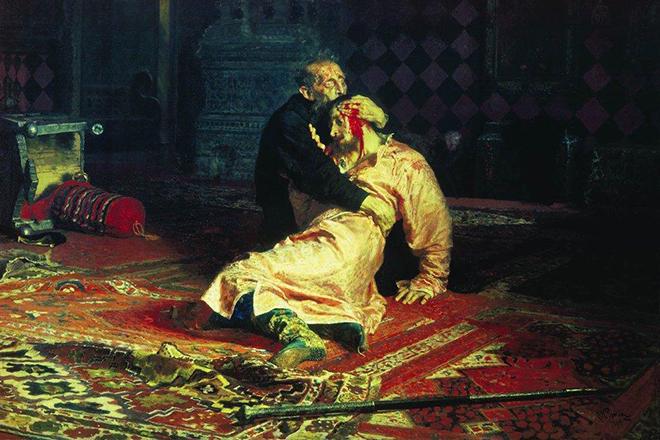 Картина Репина «Иван Грозный и сын его Иван 16 ноября 1581 года»