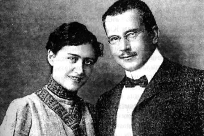 Карл Юнг и жена Эмма