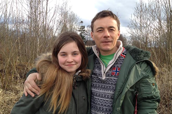 Олег Васильков с дочкой