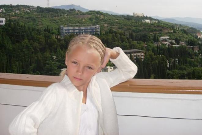 Александра Степанова в детстве