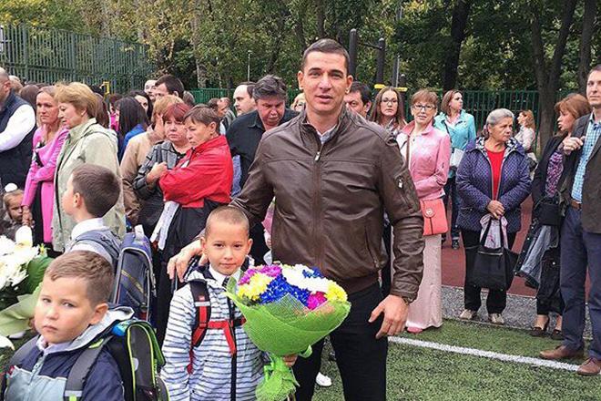 Курбан Омаров с сыном