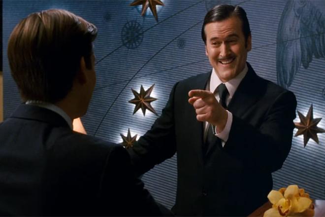 Брюс Кэмпбелл в фильме «Человек-паук 3: Враг в отражении»