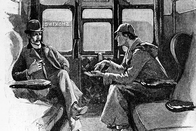 Иллюстрация к книге Артура Конан Дойля о Шерлоке Холмсе