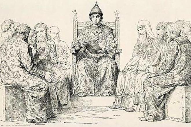 Федор Алексеевич с чиновниками