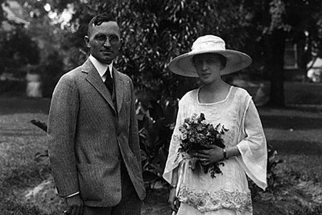 Гарри Трумэн и его жена Элизабет
