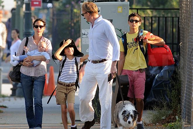Дженнифер Коннелли с детьми