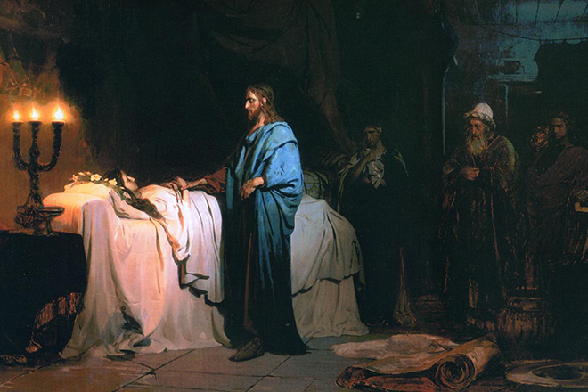 Картина Репина «Воскрешение дочери Иаира»