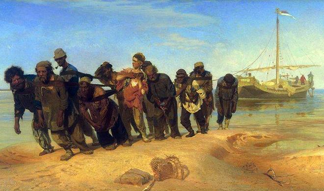 Картина Репина «Бурлаки на Волге»