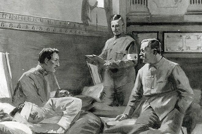 Артур Конан Дойл в полевом госпитале во время Англо-бурской войны