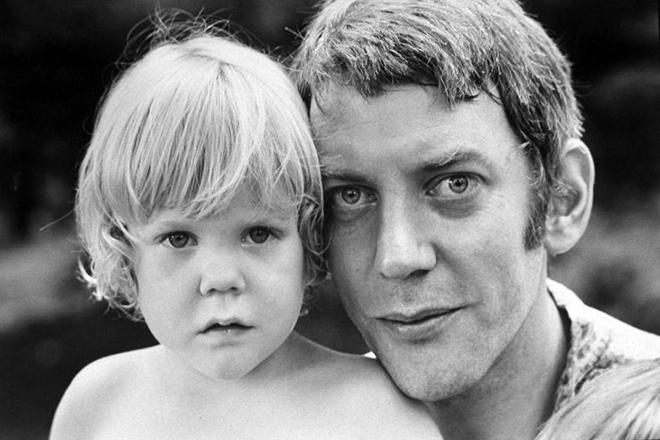 Дональд Сазерленд с сыном Кифером