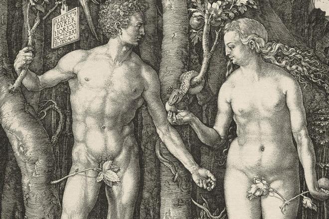 Гравюра Альбрехта Дюрера «Адам и Ева»