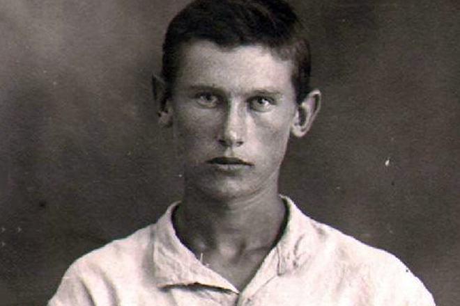 Александр Фадеев в молодости