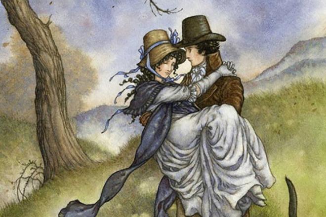 Иллюстрация к книге Джейн Остин «Чувство и чувствительность»