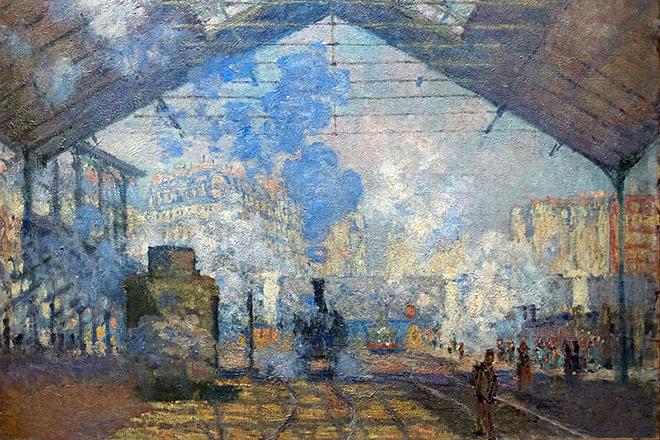 Картина Клода Моне «Вокзал Сен-Лазар»