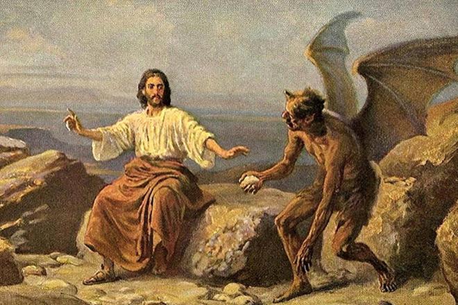 Сатана искушает Иисуса Христа