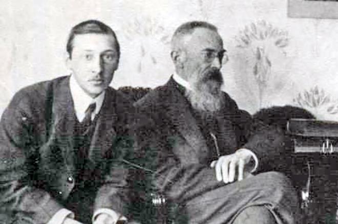 Игорь Стравинский и Николай Римский-Корсаков