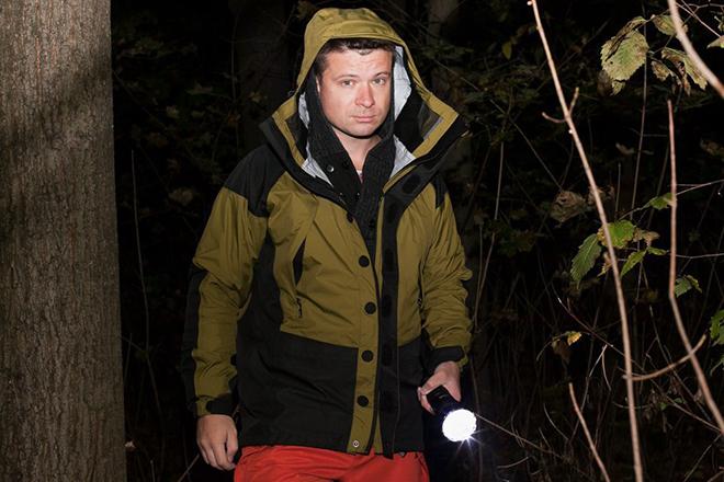 Григорий Сергеев в лесу