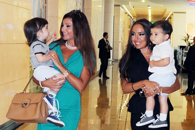 Мехрибан Алиева с внуками