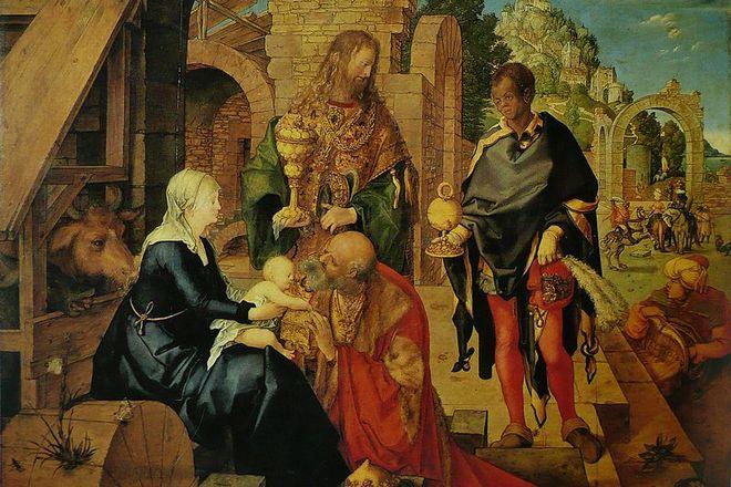 Картина Альбрехта Дюрера «Поклонение волхвов»