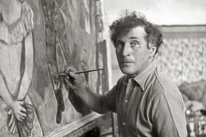 Марк Шагал за работой