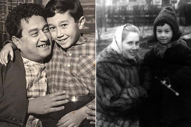 Виктор Драгунский и его жена Алла с сыном Денисом