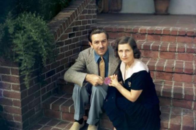Уолт Дисней и его жена Лилиан