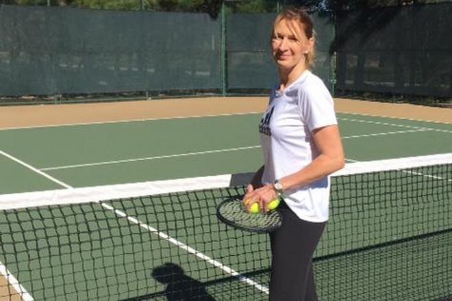 Штеффи Граф на теннисном корте