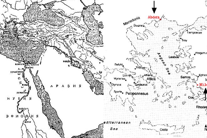 Карта Демокрита