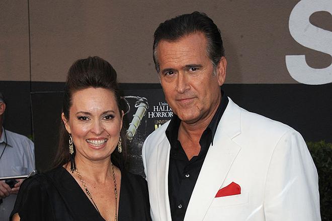 Брюс Кэмпбелл и его жена Айда