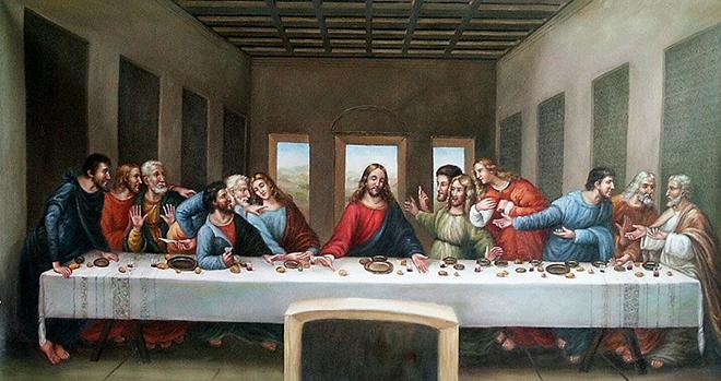 Тайная вечеря Иисуса Христа и его последователей