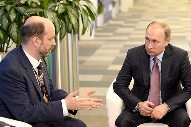 Герман Клименко и Владимир Путин