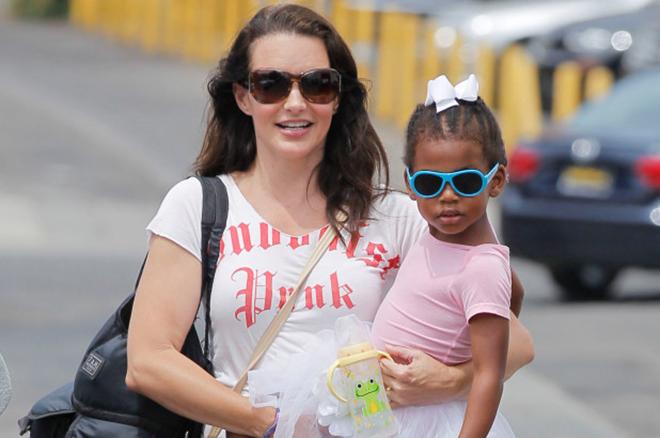 Кристин Дэвис с дочерью Джеммой