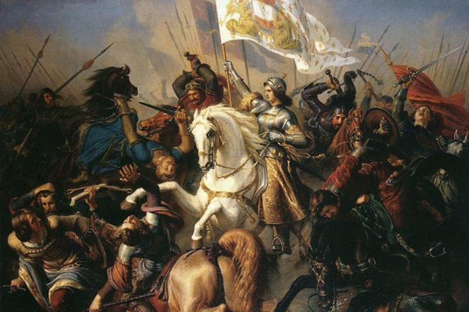 Жанна Д'арк в сражении