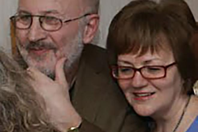 Наталья Александрова с мужем