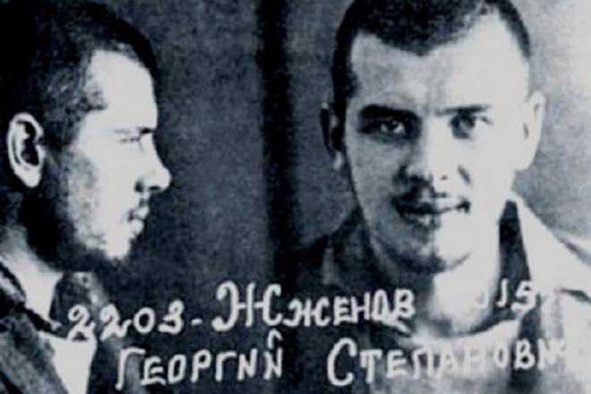 Арестованный Георгий Жженов