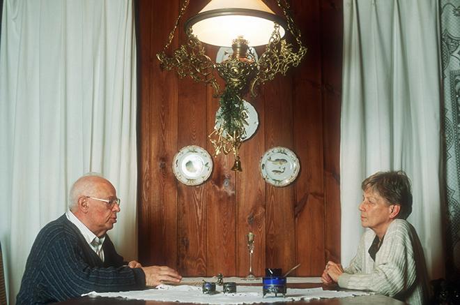 Станислав Лем и его жена Барбара