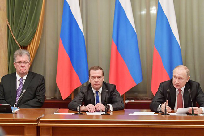 Сергей Приходько, Дмитрий Медведев и Владимир Путин