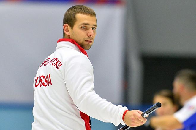 Игрок сборной России Александр Крушельницкий