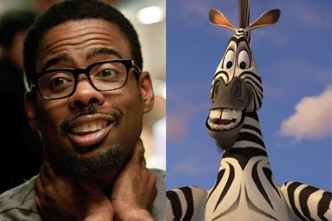 Крис Рок озвучил зебру Марти из «Мадагаскара»