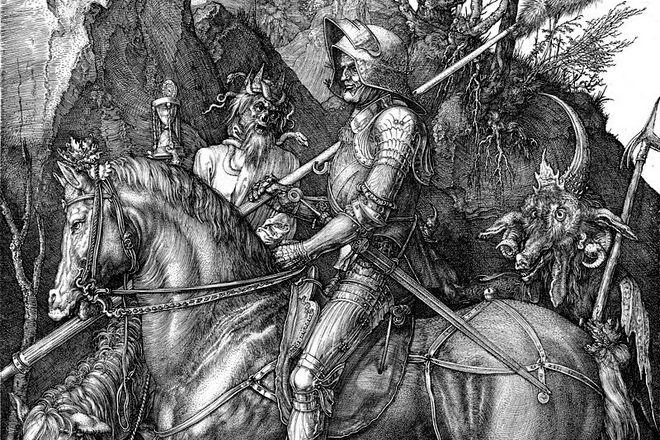 Гравюра Альбрехта Дюрера «Рыцарь, смерть и дьявол»