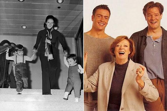 Мэгги Смит с детьми