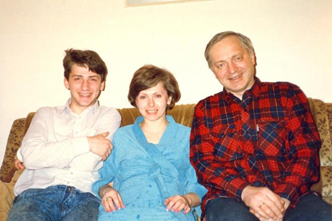Татьяна Никитина с сыном и мужем