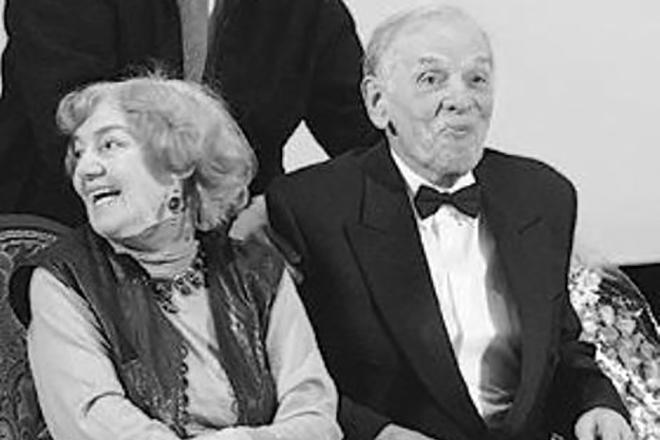 Георгий Жженов и Лидия Малюкова