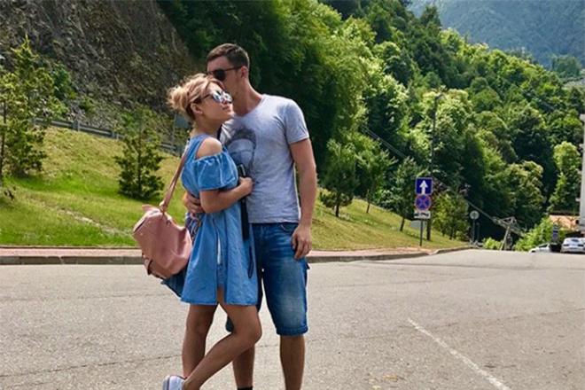 Кристина Кошелева и ее парень