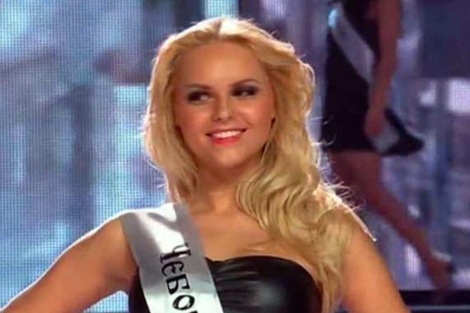 Ханна на конкурсе красоты