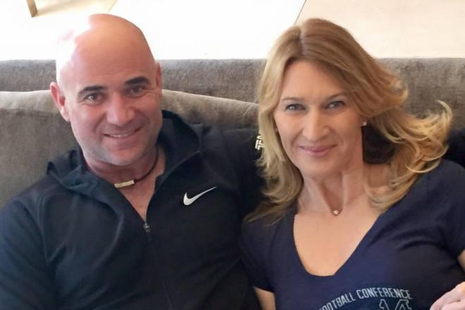 Штеффи Граф и ее муж Андре Агасси
