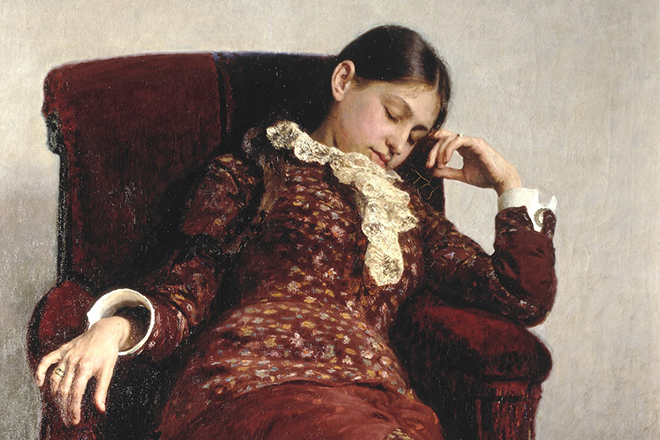 Первая жена Ильи Репина Вера на картине «Отдых»
