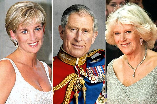 Принцесса Диана, принц Чарльз и Камилла Паркер-Боулз