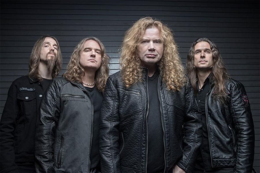 Группа «Megadeth» в 2018 году