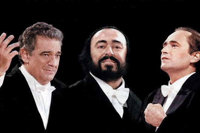 Три тенора: Лучано Паваротти, Хосе Каррерас и Пласидо Доминго